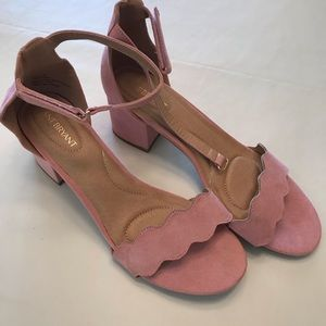 Lane Bryant Sz 11W blush sandals